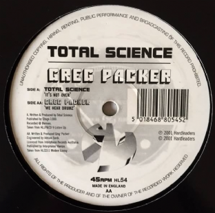 "Total Science/Greg Packer - It's Not Over/We Hear Drumz (12"") (G-/NM)"